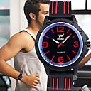رخيصةأون ساعات الرجال-رجالي ساعة رياضية كوارتز سيليكون أسود 30 m جميل إبداعي مضيء مماثل كاجوال الحد الأدنى - أحمر أخضر أزرق سنتان عمر البطارية