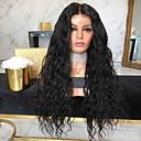 povoljno Ekstenzije za kosu-Sintetičke perike Kinky Ravno Srednji dio Perika Dug Crna Sintentička kosa 26 inch Žene Žene Crna