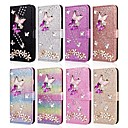 cheap Galaxy J Series Cases / Covers-Case For Samsung Galaxy J8 (2018) / J7 (2017) / J7 (2018) Wallet / Card Holder / Rhinestone Full Body Cases Butterfly / Glitter Shine Hard PU Leather