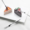 ieftine Veselă-fructe furculiță din oțel inoxidabil tort lună tort desert furculiță acasă zilnic fructe semn 2pcs