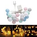 povoljno LED svjetla u traci-1pc 20 leds pamučne loptice string svjetla Božić ljubavnik vjenčanje odmor spavaća soba ukrasa vilinski svjetiljka galands 220-240v