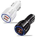 ieftine Încărcătoare Auto-Încărcător de Mașină / Încărcător rapid Încărcător USB Priză EU Multi-Ieșiri / QC 3.0 2 Porturi USB 3.1 A DC 12V pentru Παγκόσμιο