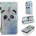voordelige Galaxy S7 Edge Hoesjes / covers-hoesje Voor Apple iPhone XS / iPhone XR / iPhone XS Max Portemonnee / Kaarthouder / met standaard Volledig hoesje Glitterglans / Panda Hard PU-nahka