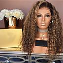 ieftine Peruci & Extensii de Păr-Peruci Sintetice Kinky Straight Partea centrală Perucă Lung înălbitor Blonde Păr Sintetic 26 inch Pentru femei Dame Maro Închis