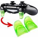 baratos Acessórios para PS4-Acessórios do jogo 1 par / set kit de botão de expansão gatilho l2 r2 para ps4 controlador controlador de jogo peças de reposição