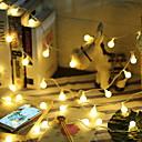 povoljno LED svjetla u traci-5m Žice sa svjetlima 50 LED diode Toplo bijelo Ukrasno AA baterije su pogonjene 1set