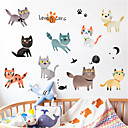 رخيصةأون المفكات & مجموعات المفكات-الكرتون لطيف القط الجدار ملصق غرفة الأطفال ديكورات ذاتية اللصق خلفية ملصقات ملصقات تجديد منزل الإيجار