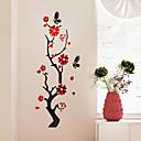 رخيصةأون ديكورات خشب-لواصق حائط مزخرفة - لواصق / ملصقات الحائط على المرآة الأزهار / النباتية / 3D غرفة النوم / المكتب