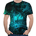 olcso Férfi pólók és atléták-Kerek Férfi Extra méret Póló - 3D, Nyomtatott Tengerészkék / Rövid ujjú
