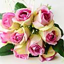 رخيصةأون أزهار اصطناعية-زهور اصطناعية 9 فرع كلاسيكي أوروبي Wedding Flowers الورود الزهور الخالدة أزهار الطاولة
