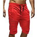 ieftine Maieu & Tricouri Bărbați-Bărbați De Bază Mărime EU / US Pantaloni Chinos / Pantaloni Sport Pantaloni - Mată Multistratificat Negru Roșu-aprins Gri Închis M L XL / Cordon