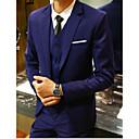 povoljno iPhone maske-Crn / Svjetlo siva / Navy Plava Jednobojni Uski kroj polyster Odijelo - Stepenasti Droit 1 bouton / odijela