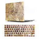 ieftine Binocluri-versiunea din lemn model de cereale Macbook caz hard din plastic cu tastatură capac protector compatibil cu noul / vechiul macbook aer pro retina 11/12/13/15 inch