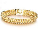 ieftine Brățări-Bărbați Pentru femei Brățări cu Lanț & Legături Fericit Stilat 18K de aur umplut Bijuterii brățară Auriu Pentru Cadou Zilnic