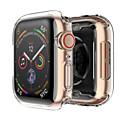 povoljno Slučajevi pametnog sata-Silikonski poklopac slučaj za jabuka sat bend 4 44mm 40mm mekani ultra-tanki jasan okvir