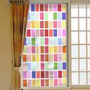 رخيصةأون الستائر-شعرية ملونة للإزالة فيلم النافذة البلاستيكية&ampamp، ampamp، حلية، الزخرفة، هندسي