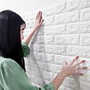 billige Vægdekorationer-diy pe skum 3d mursten selvklæbende væg klistermærke baseboard indretning transport / landskab studie værelse / kontor / spisestue / køkken