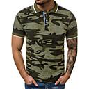 billiga T-shirts och brottarlinnen till herrar-Tryck, Kamouflage Bomull Polo Herr Tröjkrage Smal Grå