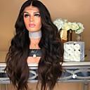 ieftine Extensii de Păr-Peruci Sintetice Stil Ondulat Partea centrală Față din Dantelă Perucă Lung Dark Brown / Întuneric Auburn Păr Sintetic 26 inch Pentru femei Dame Maro Închis