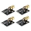 ieftine Accesorii & Roboți-4pcs laser dot cu diod cap de cupru modul de senzor pentru arduino