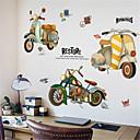 رخيصةأون ملصقات ديكور-الرجعية الإبداعية ملصقات دراجة نارية ملصقات الرياح الشمال كلية عنبر خلفية خلفية جدار ديكورات ذاتية اللصق