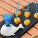 ieftine Veselă-Plastic Casual Furculiță pentru Fructe, Calitate superioară 16buc
