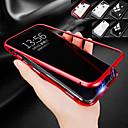 رخيصةأون أغطية أيفون-غطاء من أجل Apple iPhone XS / iPhone XR / iPhone XS Max ضد الصدمات / شفاف / مغناطيس غطاء خلفي لون سادة قاسي زجاج مقوى / معدن