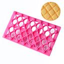 رخيصةأون أدوات الفرن-1PC بلاستيك 3D المطبخ الإبداعية أداة بسكويت لكعكة مستطيل أدوات الخبيز والعجين أدوات خبز
