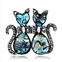 povoljno Broševi-Žene Broševi Geometrijski Mačka Stilski Crtići Broš Jewelry Plava Za Vjenčanje Festival