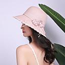 ieftine Pălării Bărbați-Pentru femei Mată Floral Activ De Bază Cute Stil,Paie-Paie Căciulă Primăvară Vară Roz Îmbujorat Bej Kaki