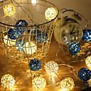 رخيصةأون أضواء شريط LED-3M أضواء سلسلة 20 المصابيح تراجع LED أبيض دافئ ديكور بطاريات آ بالطاقة 1PC