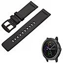 voordelige Horlogebandjes voor Pebble-Horlogeband voor vivomove HR / Vivoactive 3 Garmin Sportband Echt leer Polsband