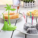 ieftine Veselă-Plastic Casual Furculiță pentru Fructe, Calitate superioară 6pcs