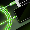 رخيصةأون مشدات-USB مصغر كابل الشحن السريع TPE محول كابل أوسب من أجل Samsung / LG / Xiaomi
