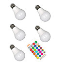 povoljno LED svjetla u traci-5pcs 5 W Smart LED žarulje 350 lm E26 / E27 A60(A19) 3 LED zrnca SMD 5050 Smart Zatamnjen Party RGBW 85-265 V
