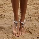 رخيصةأون صنادل حافي القدمين-نسائي Barfotsandaler لطيف لؤلؤ تقليدي خلخال مجوهرات فضي من أجل مناسب للبس اليومي