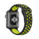 voordelige Apple Watch-bandjes-horlogeband voor Apple Watch-serie 5/4/3/2/1 Apple Classic-gesp siliconen polsband 38 mm 40 mm 42 mm 44 m