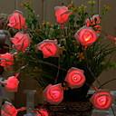 povoljno LED svjetla u traci-2.5m Žice sa svjetlima 20 LED diode Crveno Ukrasno AA baterije su pogonjene 1set