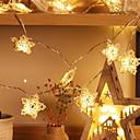 povoljno LED svjetla u traci-5m Žice sa svjetlima 40 LED diode Toplo bijelo Ukrasno AA baterije su pogonjene 1set