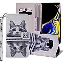 رخيصةأون إكسسوارات سامسونج-غطاء من أجل Samsung Galaxy Note 9 محفظة / حامل البطاقات / مع حامل غطاء كامل للجسم قطة قاسي جلد PU
