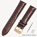 رخيصةأون قيود ساعات-جلد أصلي / تمساح حزام حزام إلى أسود / بني 18cm / 7 Inches / 19cm / 7.48 Inches 1.6cm / 0.6 Inches / 1.8cm / 0.7 Inches / 1.9cm / 0.75 Inches