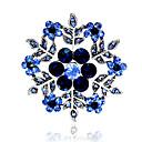 povoljno Broševi-Žene Broševi Pahulja Stilski Umjetno drago kamenje Pozlaćeni Broš Jewelry Crvena Plava Za Party Dnevno