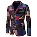 povoljno Muški sakoi i odijela-Muškarci Veći konfekcijski brojevi / Veličina EU / SAD Sako, Geometrijski oblici / Duga Klasični rever Pamuk / Lan Duga