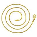 رخيصةأون القلائد-رجالي قلادات السلسلة كلاسيكي رخيص كلاسيكي أساسي موضة نحاس مطلية بالذهب ذهبي 46,56,61,66 cm قلادة مجوهرات 1PC من أجل مناسب للبس اليومي عمل