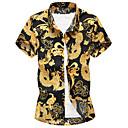 رخيصةأون قمصان رجالي-رجالي قياس كبير قميص, الرسم رقبة طوقية مرتفعة
