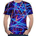 voordelige iPhone-hoesjes-Heren Print Grote maten - T-shirt 3D Ronde hals Marine Blauw / Korte mouw
