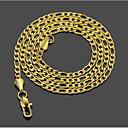 ieftine Cercei-Bărbați Lănțișoare Clasic Clasic De Bază Modă Teak Auriu 51,61 cm Coliere Bijuterii 1 buc Pentru Zilnic Muncă