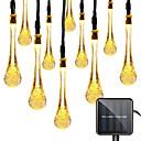 ieftine Baze de Lampe-1 set led lanterna solare lumina 5m 20 benzi luminoase picături de apă misterioase picături de apă picături de bule lumini impermeabile în aer liber