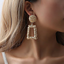 cheap Earrings-Women's Earrings Classic Earrings Jewelry Black / Rose Gold / Gold For Street Bar 1 Pair