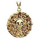 رخيصةأون القلائد-رجالي قلائد الحلي كلاسيكي جمجمة كلاسيكي موضة سبيكة ذهبي 45 cm قلادة مجوهرات 1PC من أجل نادي الحانة Bar